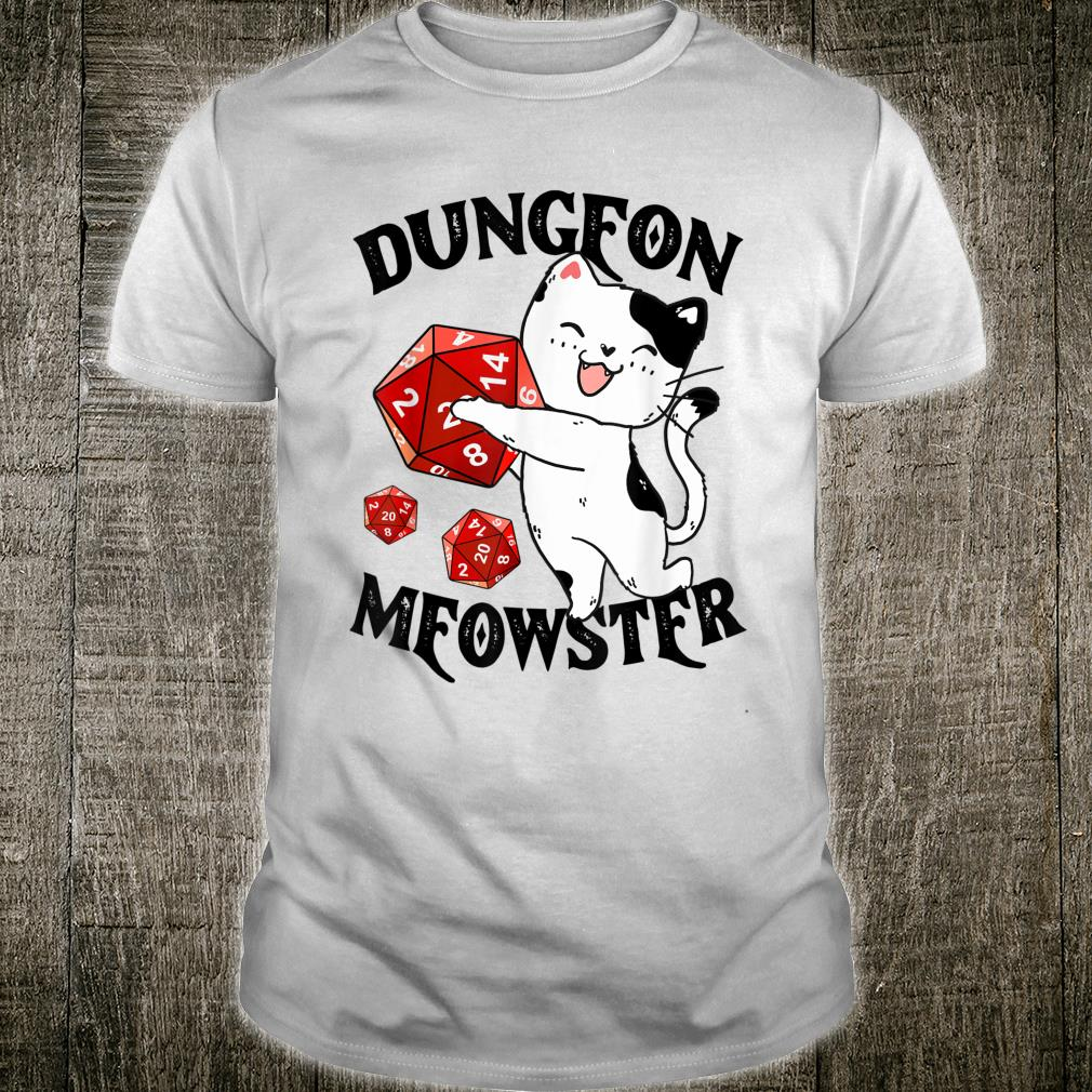 Dungeon Meowster Nerdy Cat Gamer Shirt