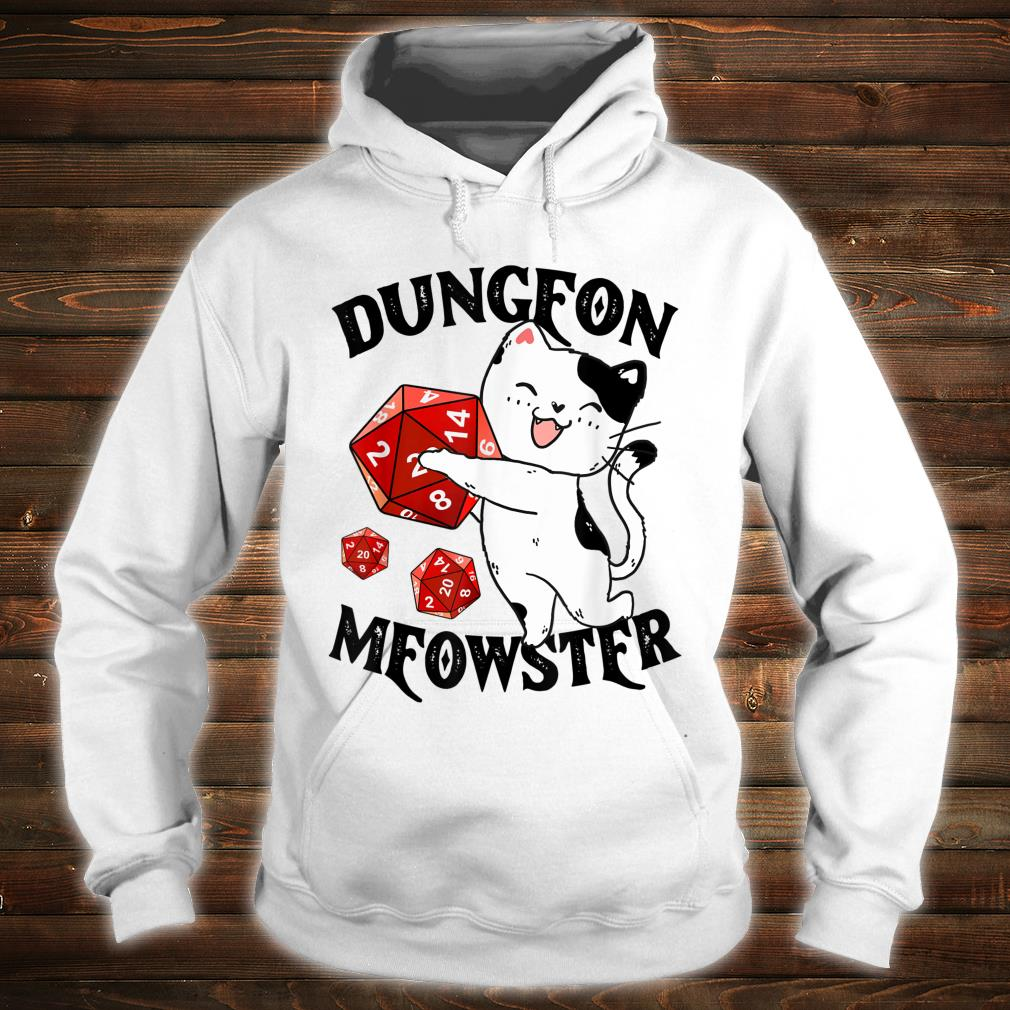 Dungeon Meowster Nerdy Cat Gamer Shirt hoodie
