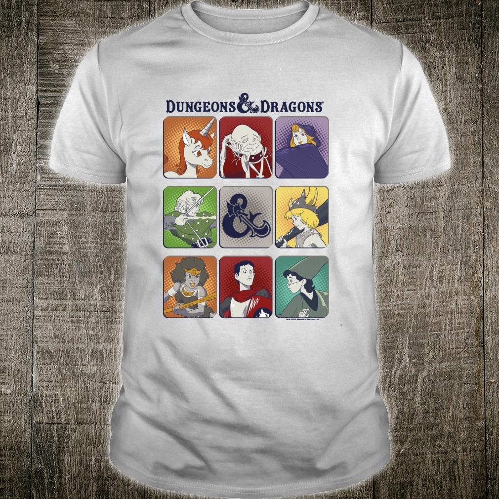 Dungeons And Dragons Character Box Up Shirt