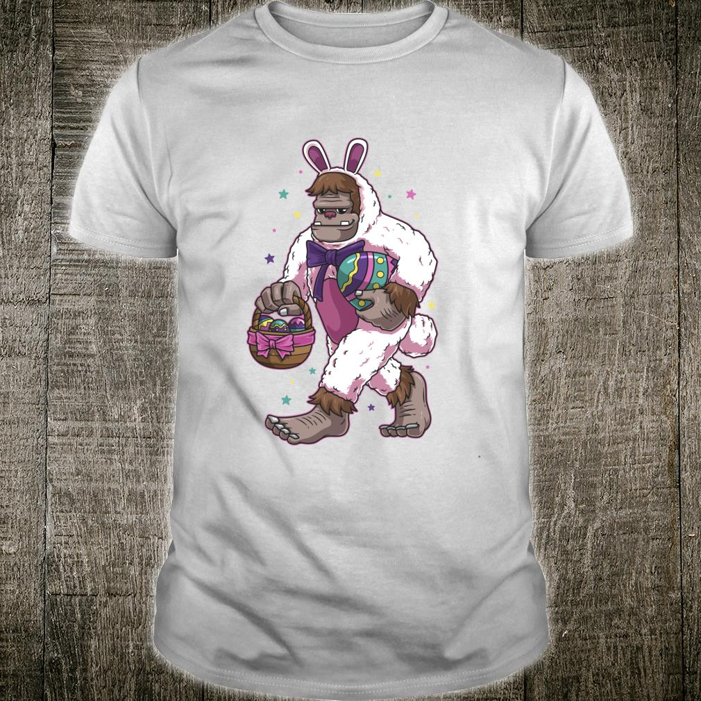 Easter Bunny Bigfoot Sasquatch Easter Egg Basket Shirt