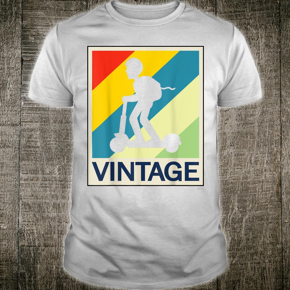 Elektroroller ERoller EScooter Vintage Retro Style Lustig Shirt