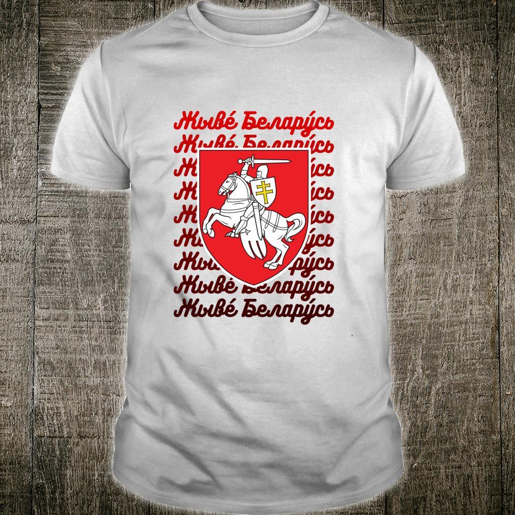 Es lebe Weißrussland Zhyve Belarus Pagonia Gerb Shirt