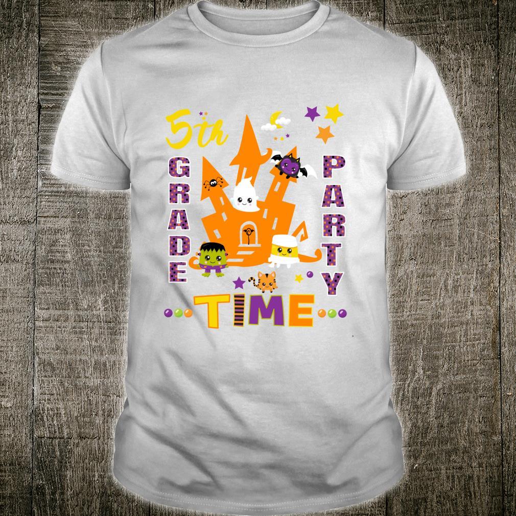 Fifth Grade Halloween Party Time Fun & Festive School Party Shirt