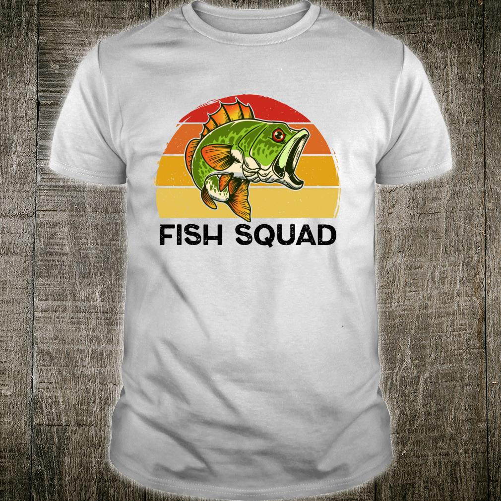 Fish Squad Matching Bass Fish for Dad Fathers Day Shirt