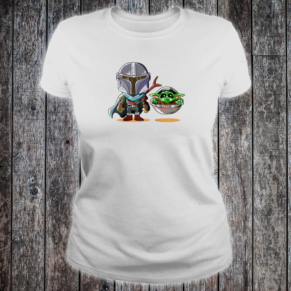 Fun cartoon mandalor sci fi movie star w cool Shirt ladies tee