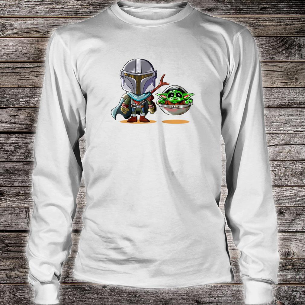 Fun cartoon mandalor sci fi movie star w cool Shirt long sleeved