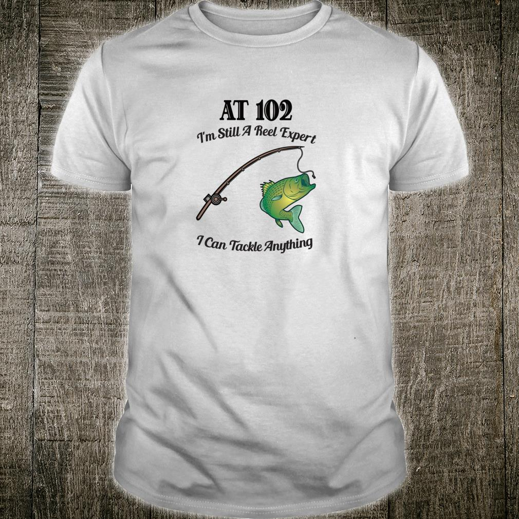 Funny 102nd Birthday 102YearOld Fisherman Fishing Shirt