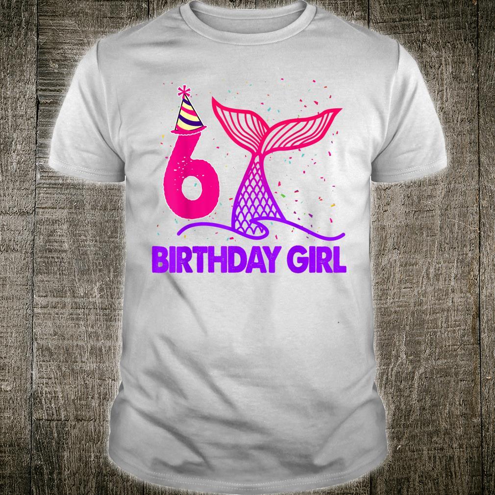 Funny 6 Years Birthday Girl Mermaid Mermaid Shirt