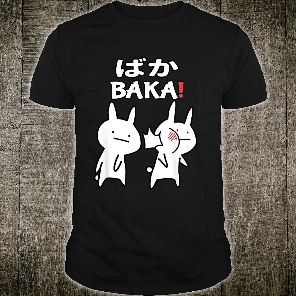 Funny Anime Japan Baka Rabbit Slap Cute Baka Japanese Shirt
