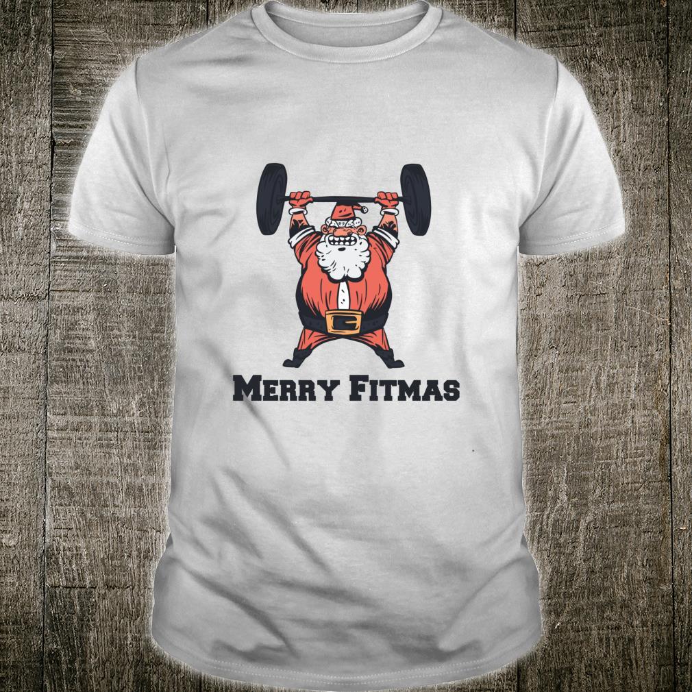 Funny Christmas Santa Claus Workout Gym Shirt