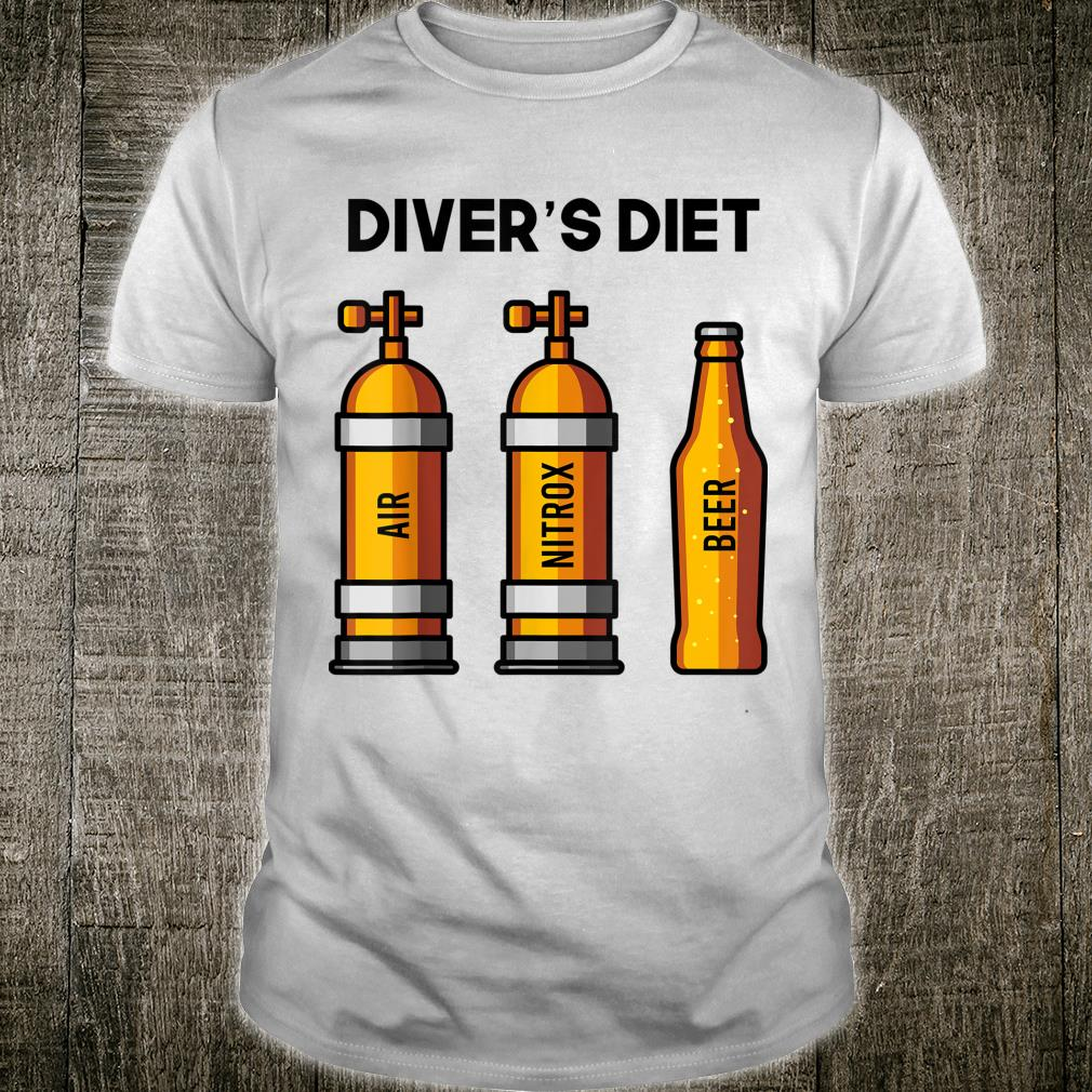 Funny Scuba Diving Shirt BEER DIVERS DIET For Diver Shirt
