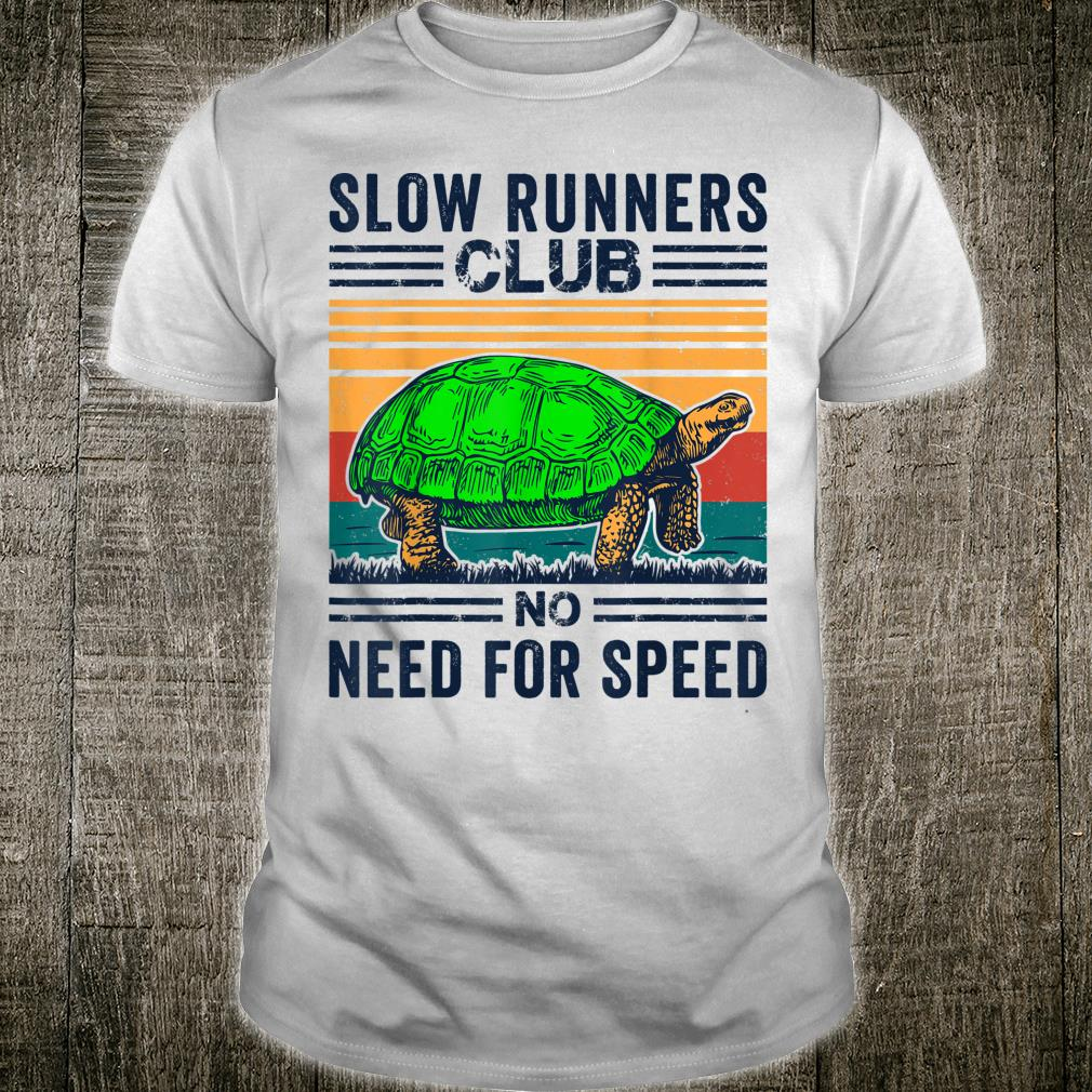 Funny Slow Runners Club No Need For Speed Cute Running Shirt