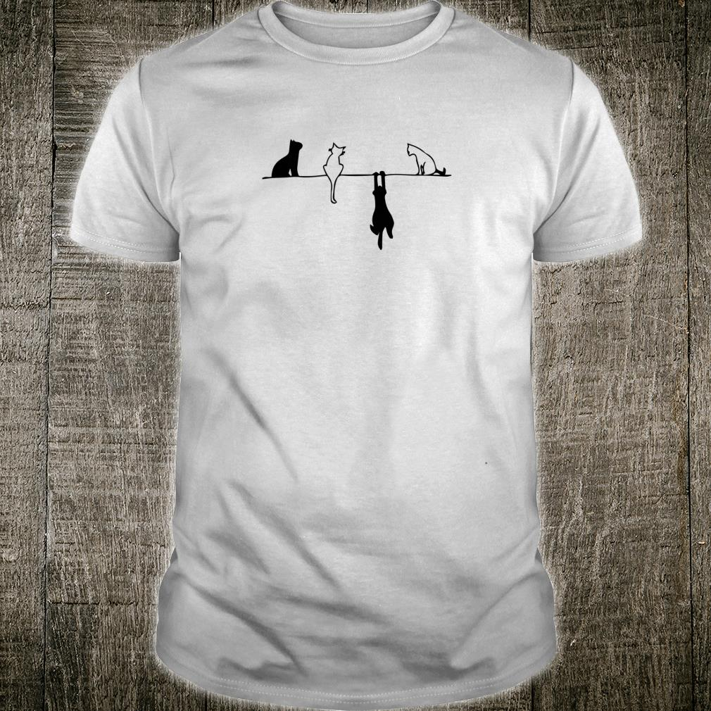 Funny cats Cute black and white cats kitty kitten outfit Shirt