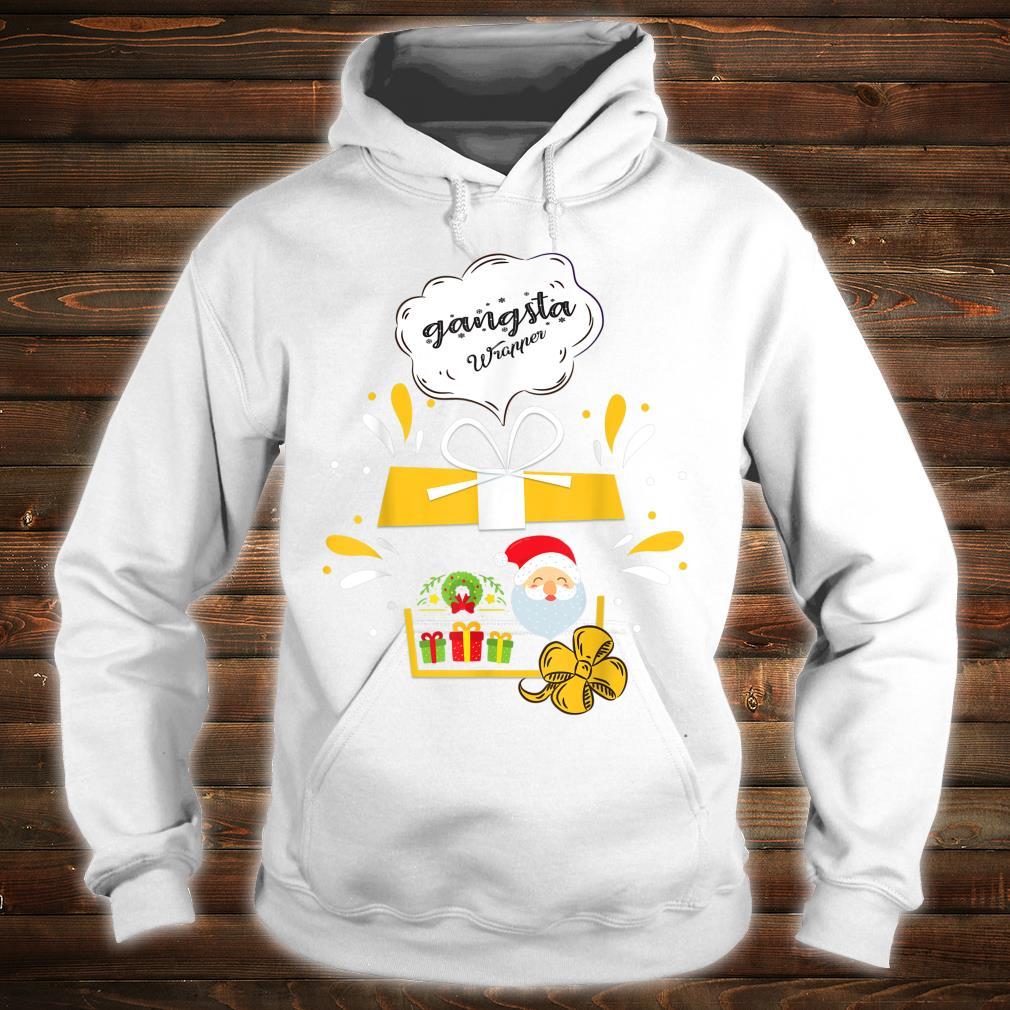 Gangsta Wrapper Santa Christmas Shirt hoodie