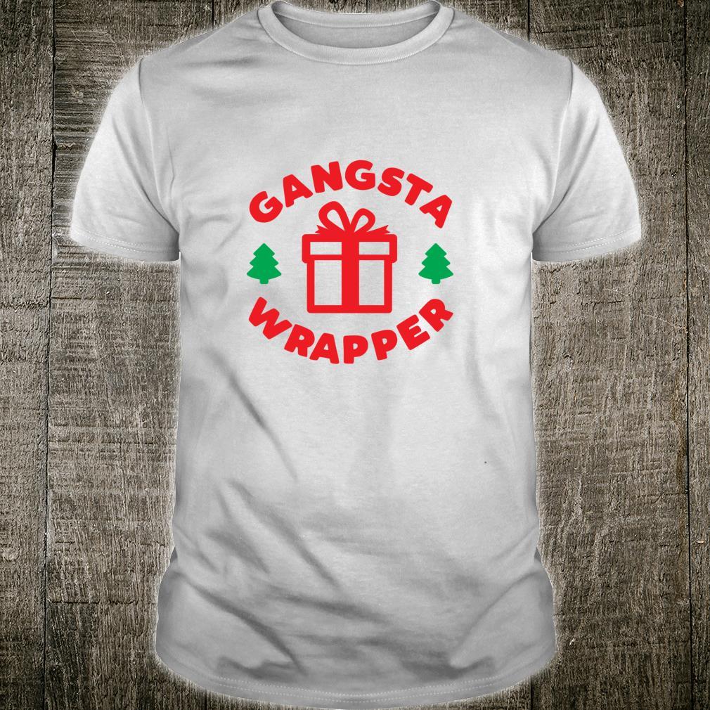 Gangsta Wrapper Vintage Rapper Christmas Saying Shirt