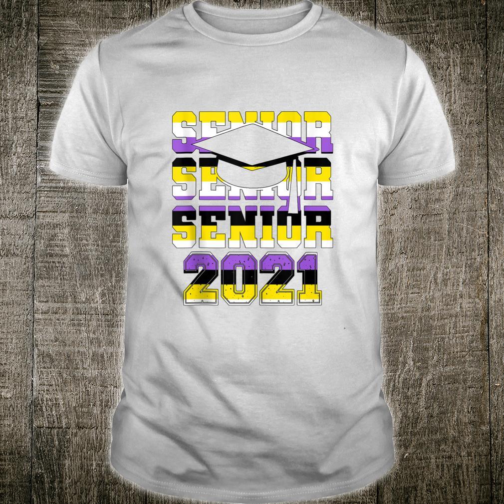 Genderqueer Graduation 2021 LGBTQ NonBinary Pride Flag Shirt