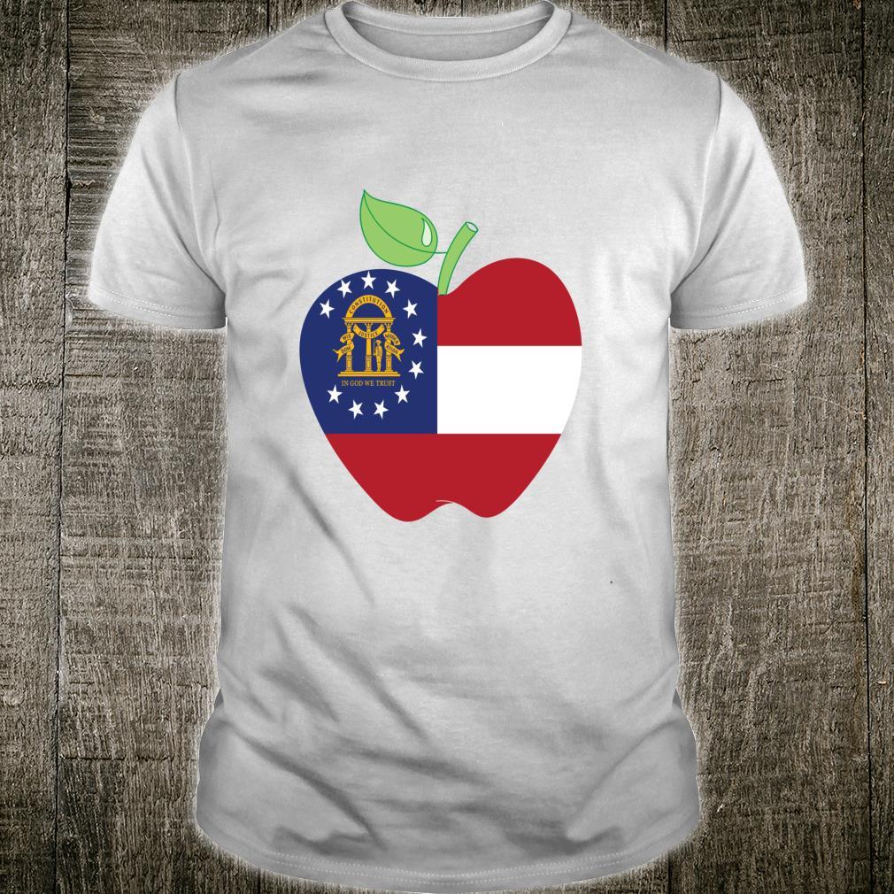 Georgia Teacher Apple For Teacher National Day 2021 Fun Shirt