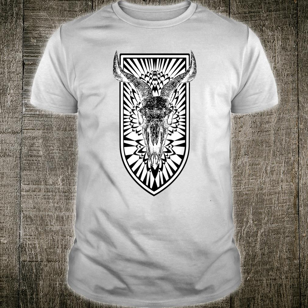 Gothic Cow Skull Horror Pagan Animal Occult White Shirt