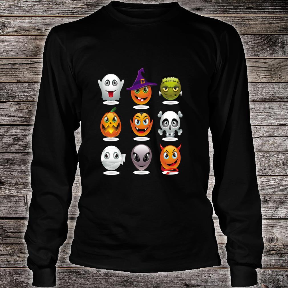 Halloween Emoji Costume Unisex Shirt long sleeved