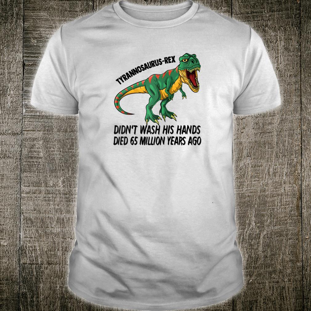 Hand Washing Parent Shirt TRex Handwashing Dinosaur Shirt