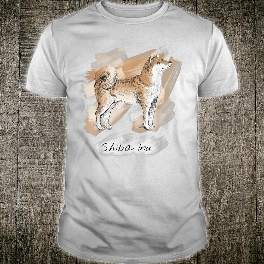 Handgezeichnet Acryl Art Japan Shiba Inu Hund Geschenk Shirt
