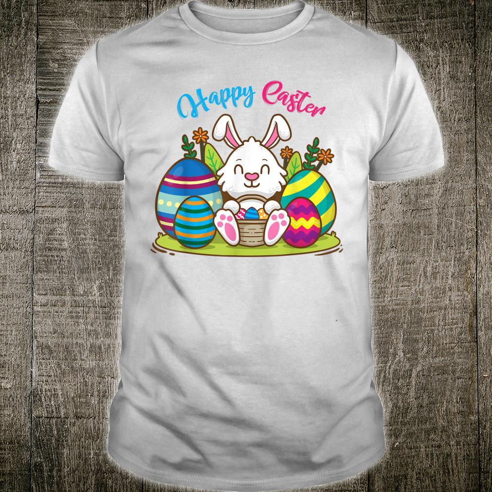 Happy Easter Bunny Sleeping Face Rabbit Christian Girls Shirt