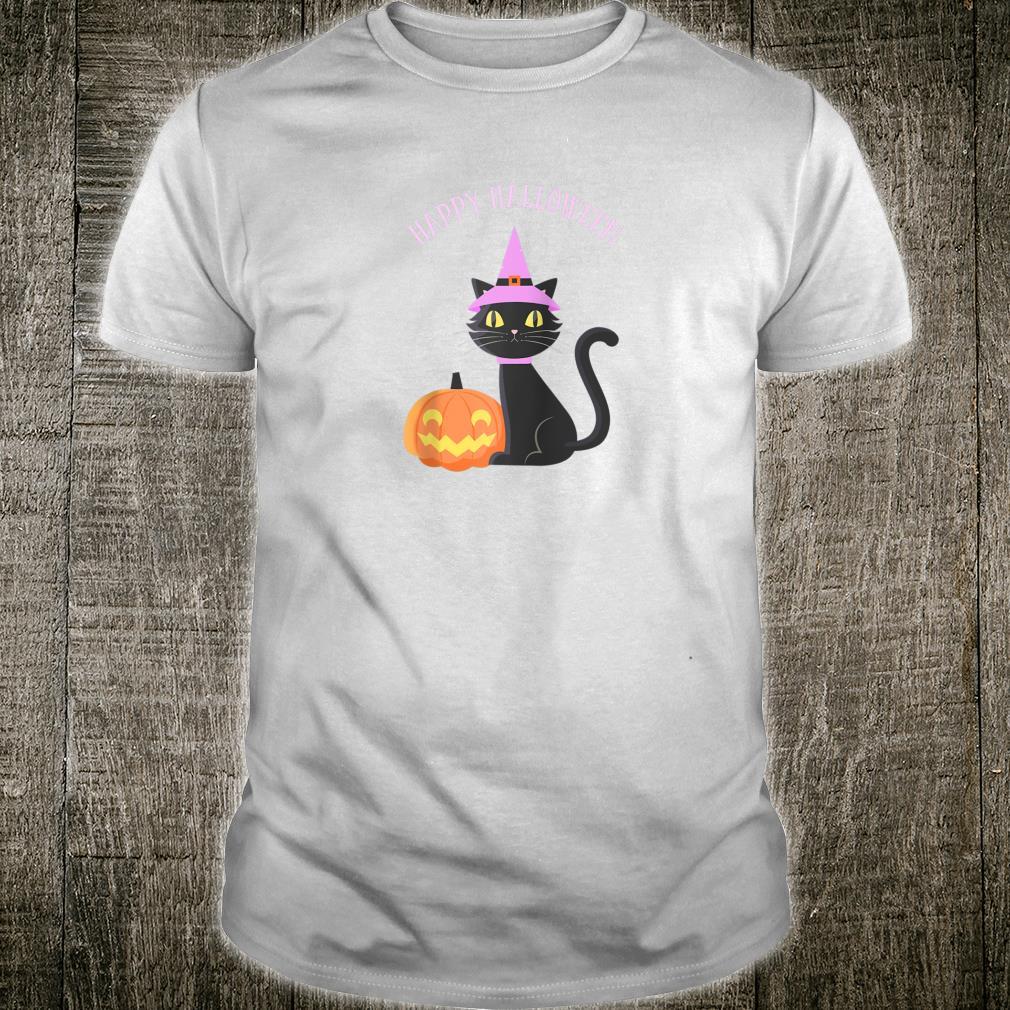 Happy Halloween Cute Cat Pumpkin Shirt