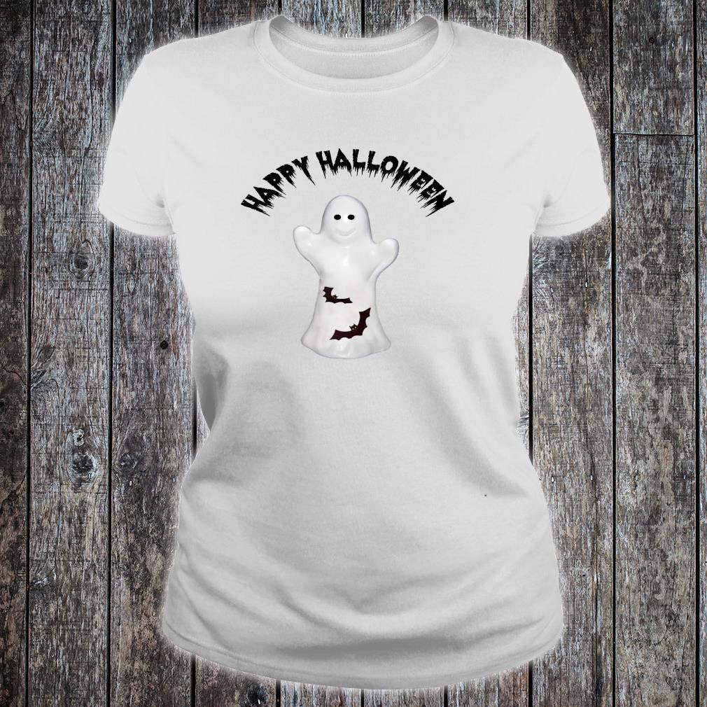 Happy Halloween Ghost & Bats Shirt ladies tee