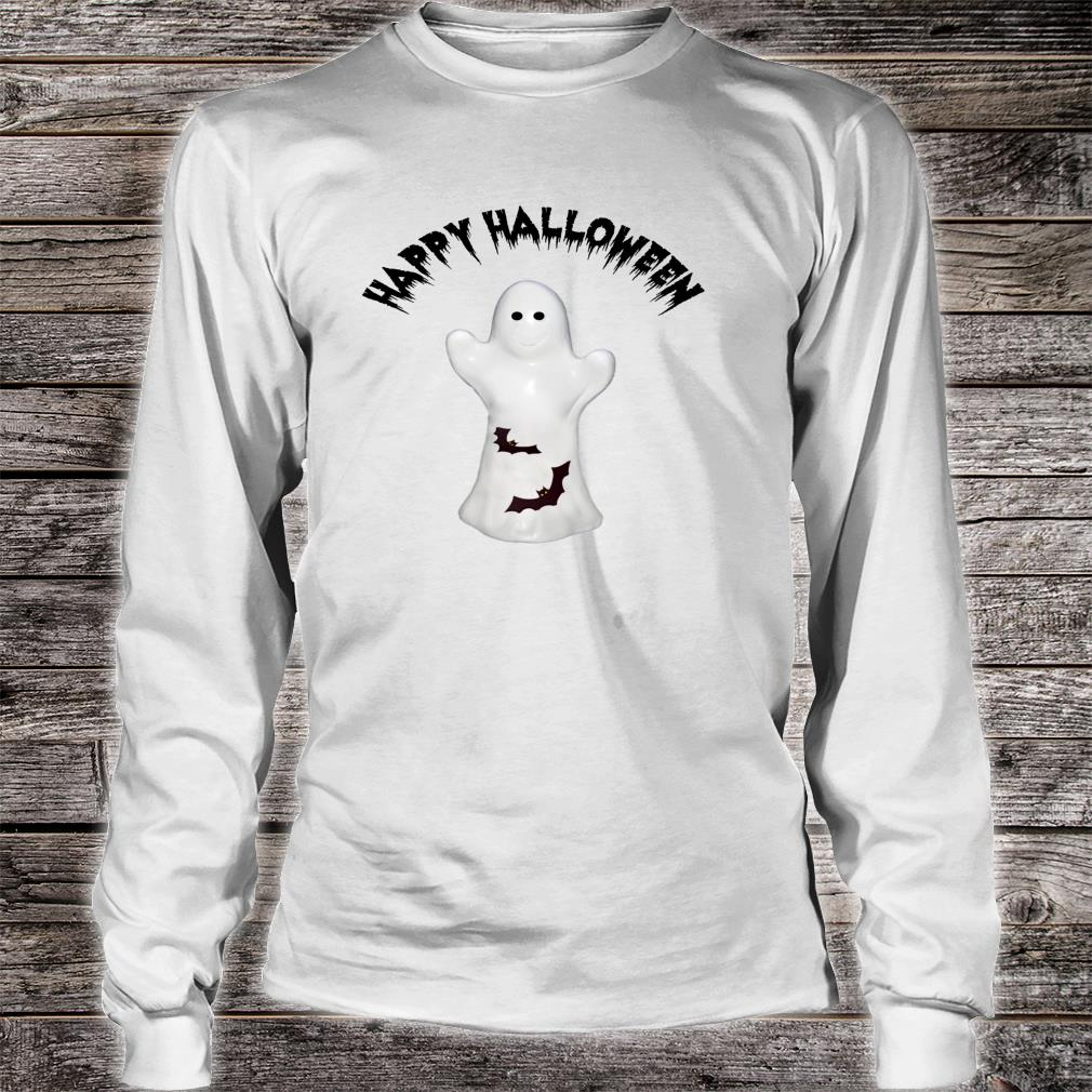 Happy Halloween Ghost & Bats Shirt long sleeved