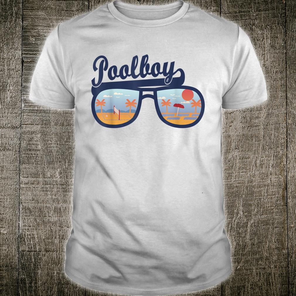 Herren Poolboy Bademeister Rettungsschwimmer Swimming Pool Urlaub Shirt