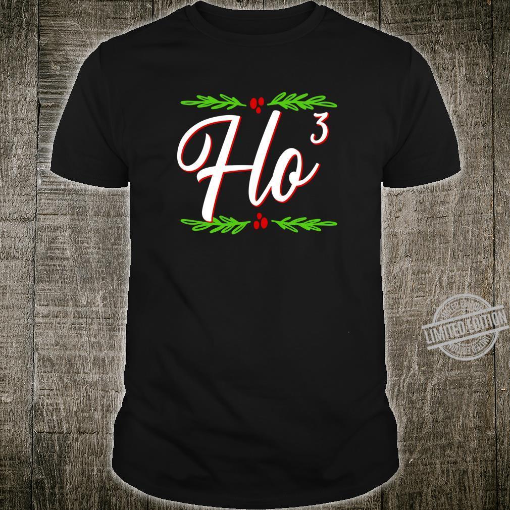 Ho Cubed Festive Christmas Holiday Santa's Naughty List Shirt