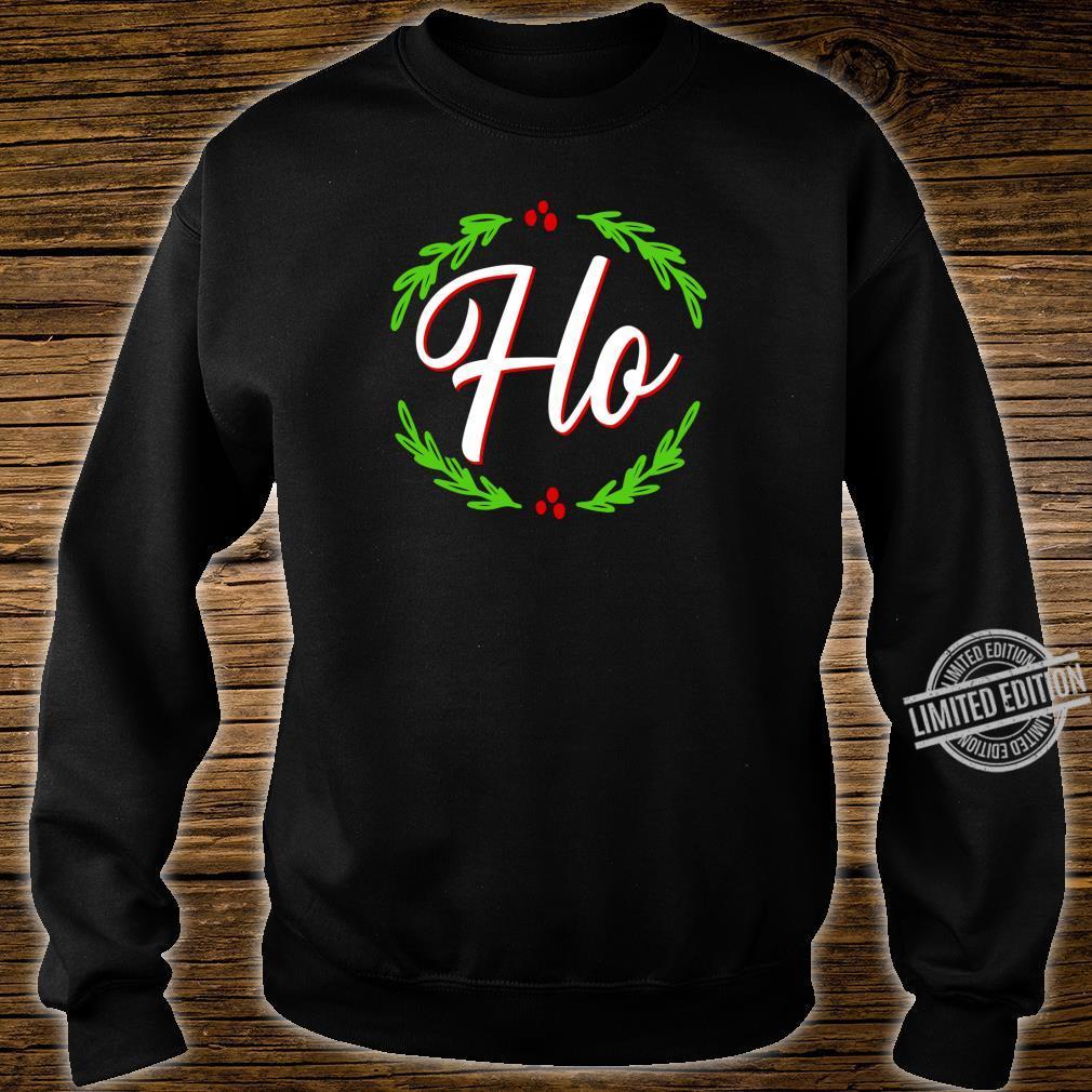 Ho Festive Christmas Holiday Cheer Santa's Naughty List Shirt sweater