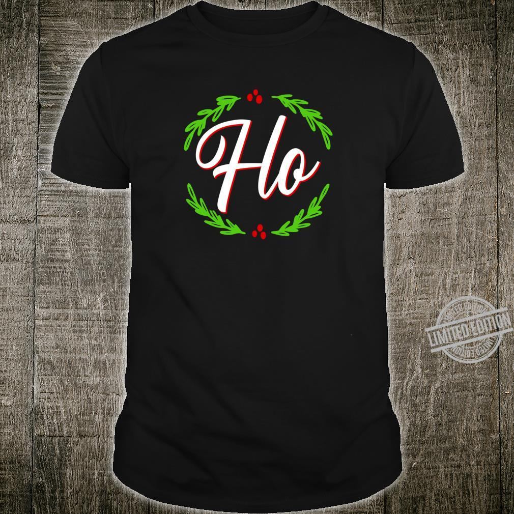Ho Festive Christmas Holiday Cheer Santa's Naughty List Shirt