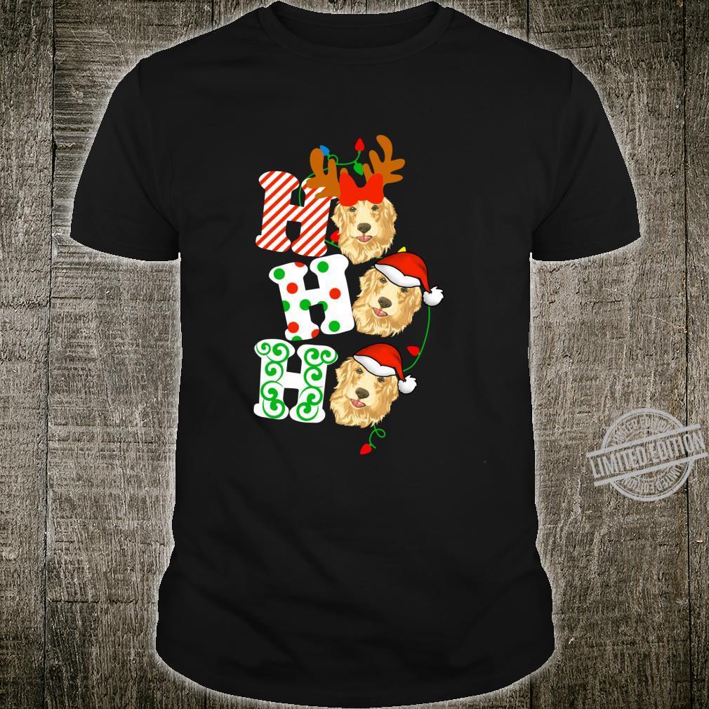 Ho Ho Ho Golden Retriever Dog Reindeer Christmas Shirt