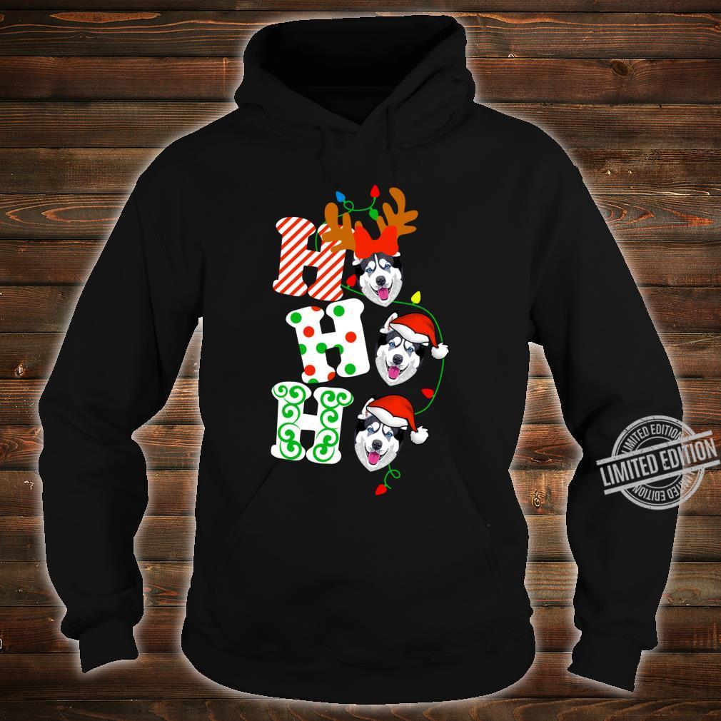 Ho Ho Ho Husky Dog Reindeer Christmas Shirt hoodie
