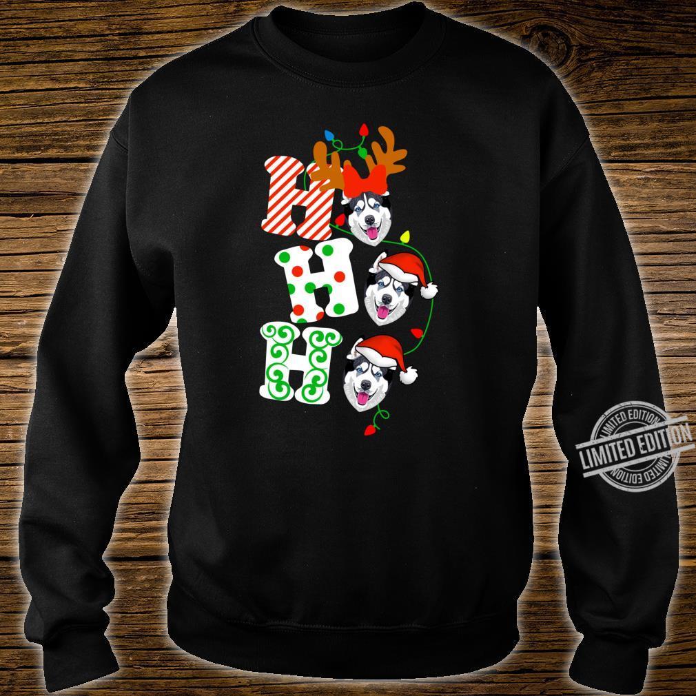 Ho Ho Ho Husky Dog Reindeer Christmas Shirt sweater