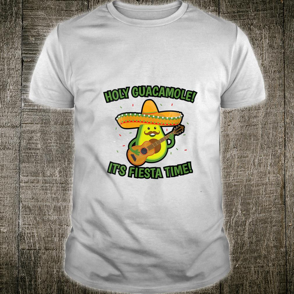 Holy Guacamole Avocado Guitar Cinco de Mayo Shirt