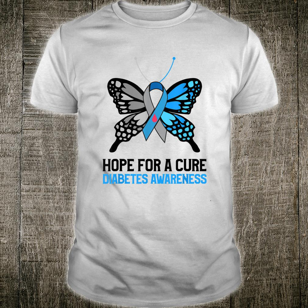 Hope For A Cure Diabetes Awareness Type 1 Diabetes Awareness Shirt