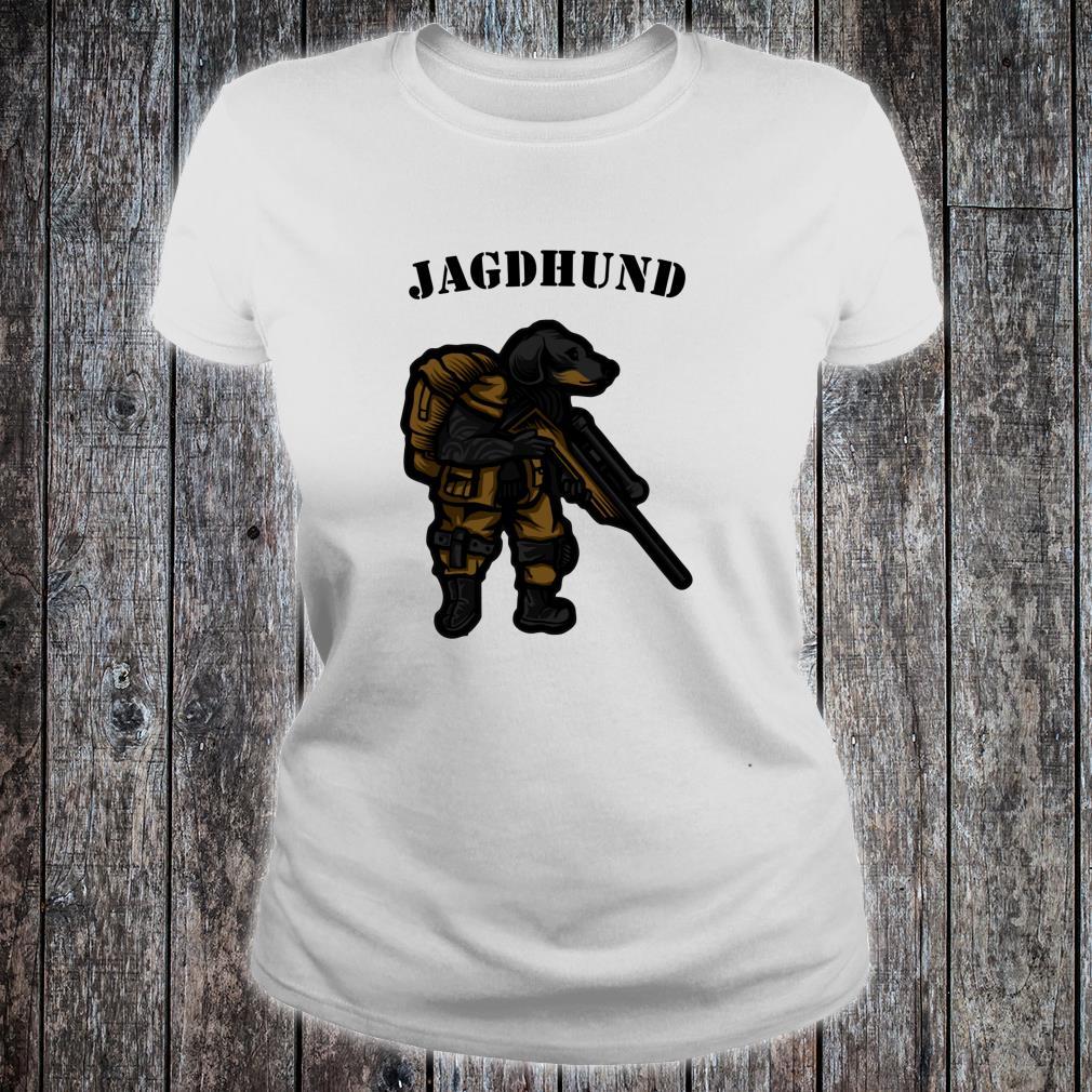 Hunting Dog Hunter Soldier Dachshund Dachshund Tecker Idea Shirt ladies tee