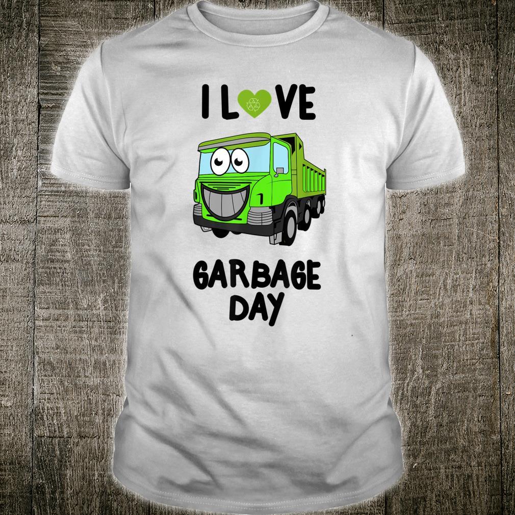 I Heart Love Garbage Day Little Boys Shirt