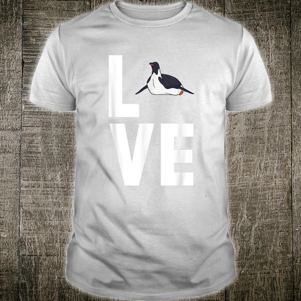 I Love Penguins Cute Animal Shirt