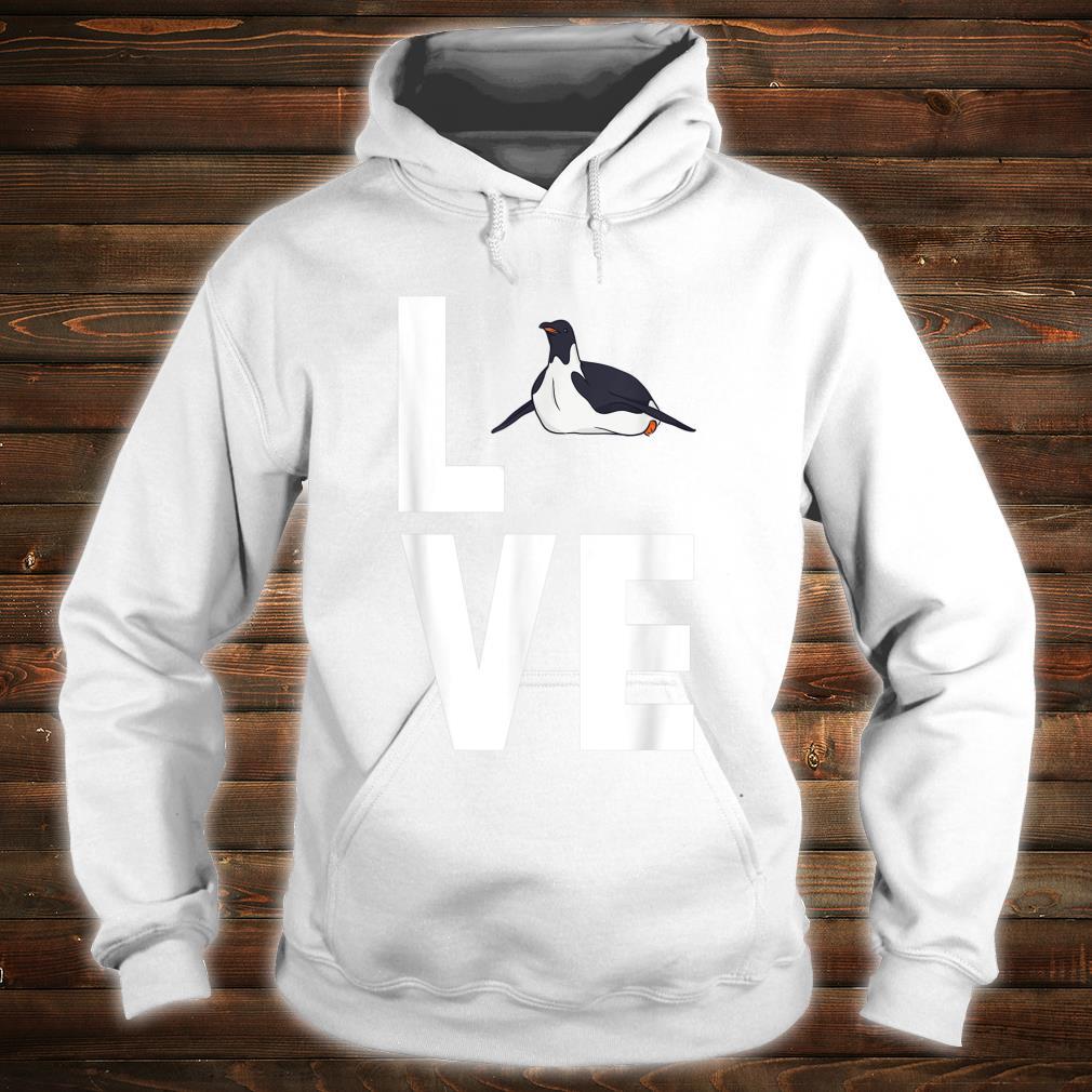 I Love Penguins Cute Animal Shirt hoodie
