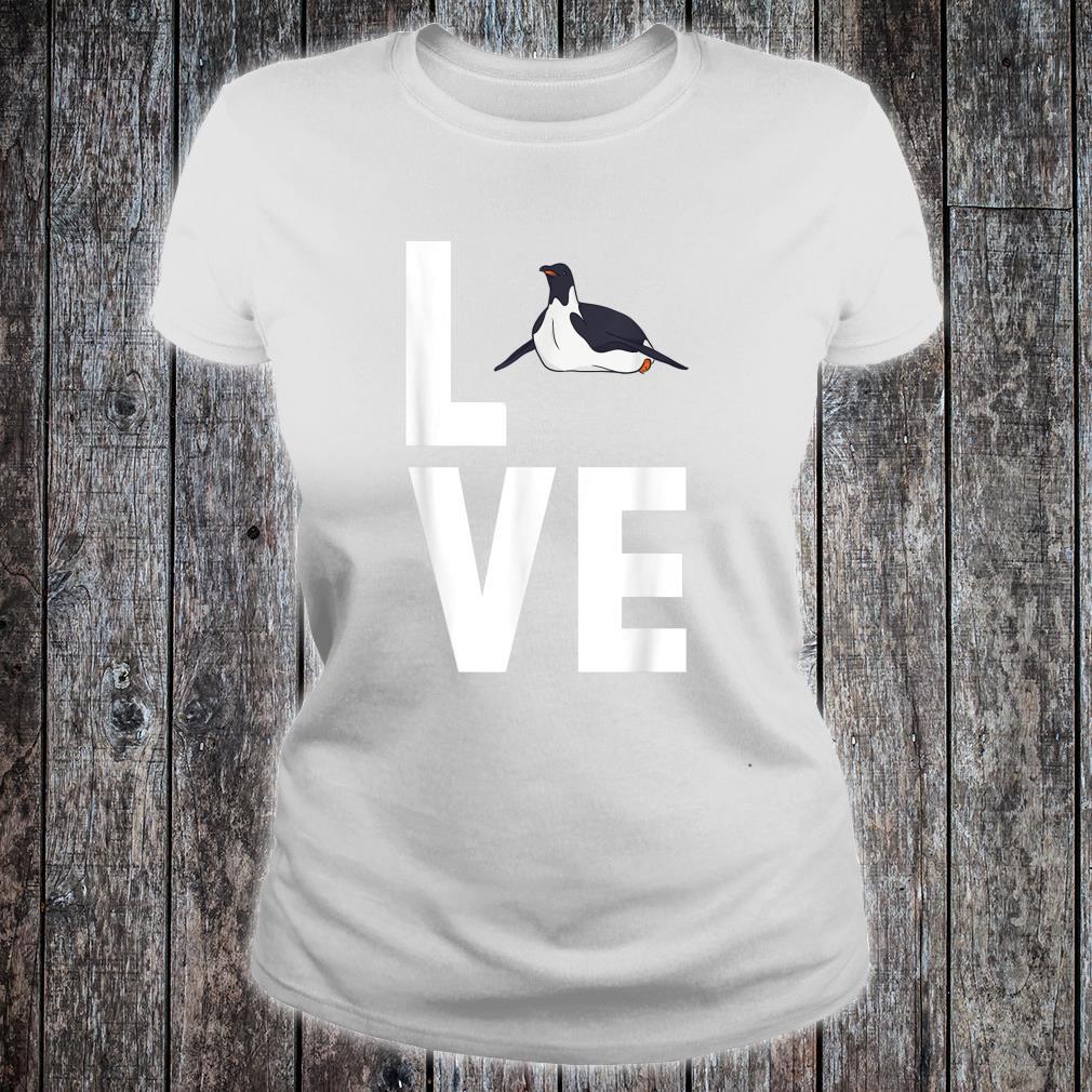 I Love Penguins Cute Animal Shirt ladies tee