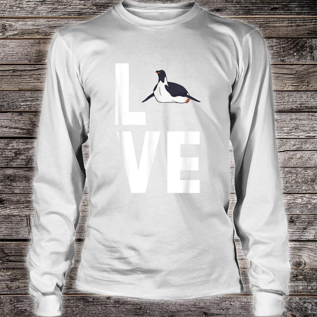 I Love Penguins Cute Animal Shirt long sleeved