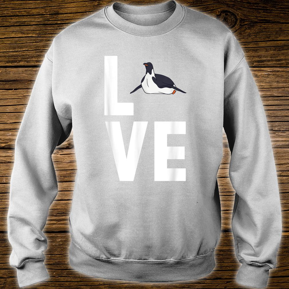 I Love Penguins Cute Animal Shirt sweater