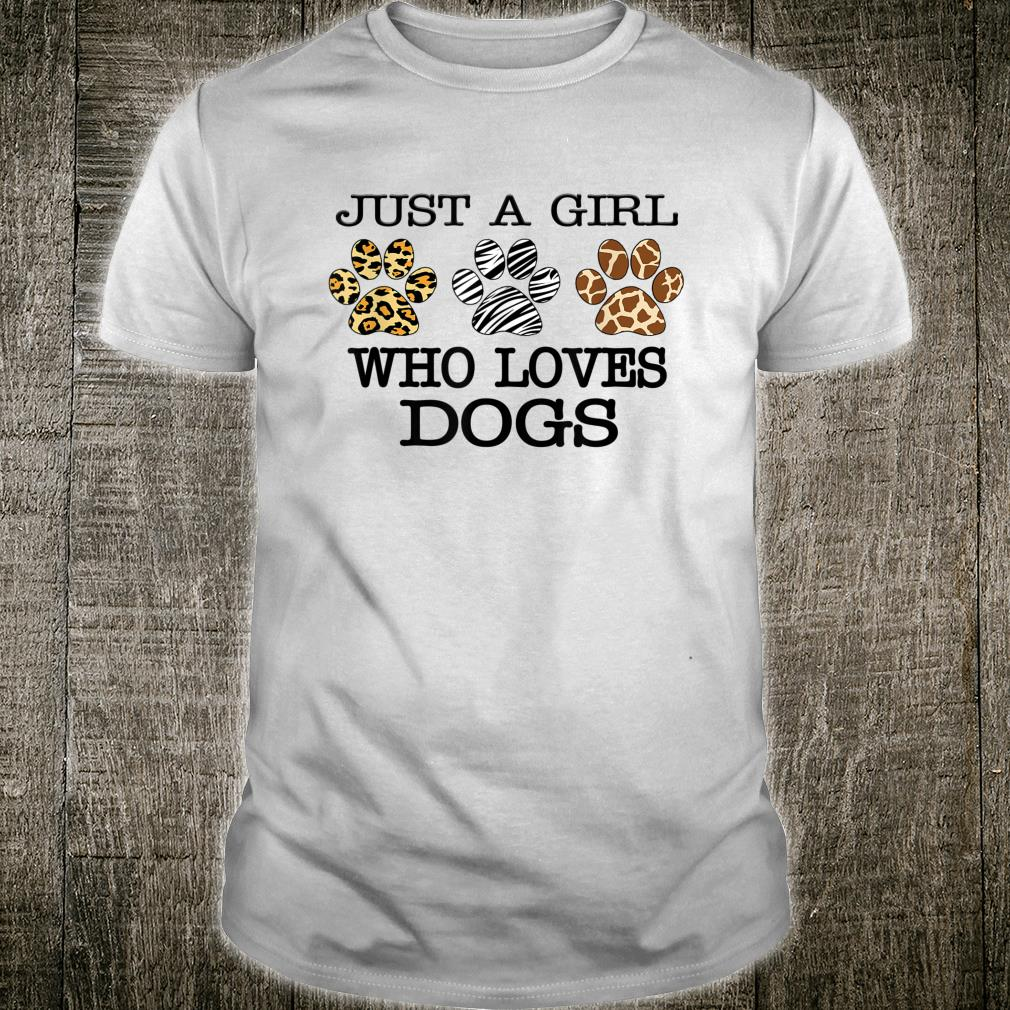 Just A Girl Who Loves Dogs Leopard Print Dogs Shirt