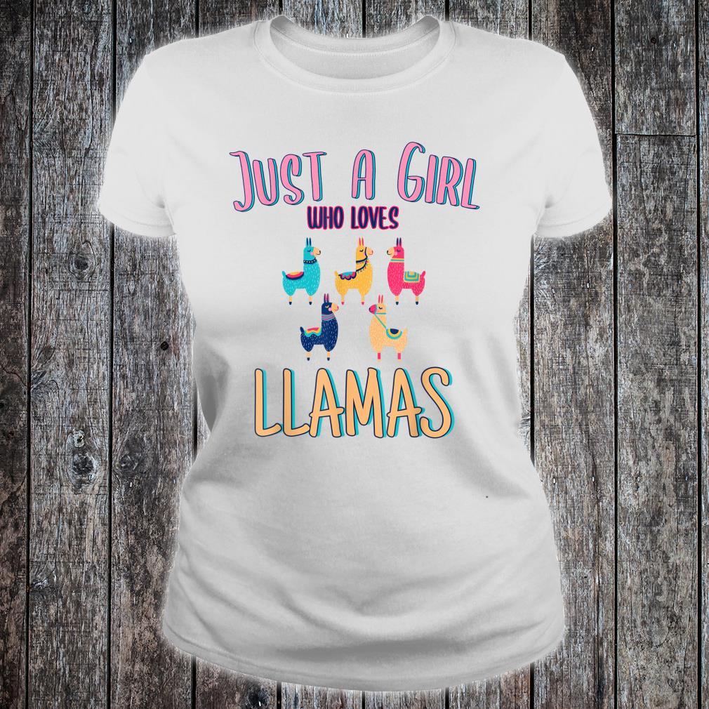 Just A Girl Who Loves Llamasidea Shirt ladies tee