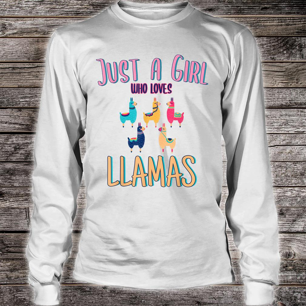 Just A Girl Who Loves Llamasidea Shirt long sleeved