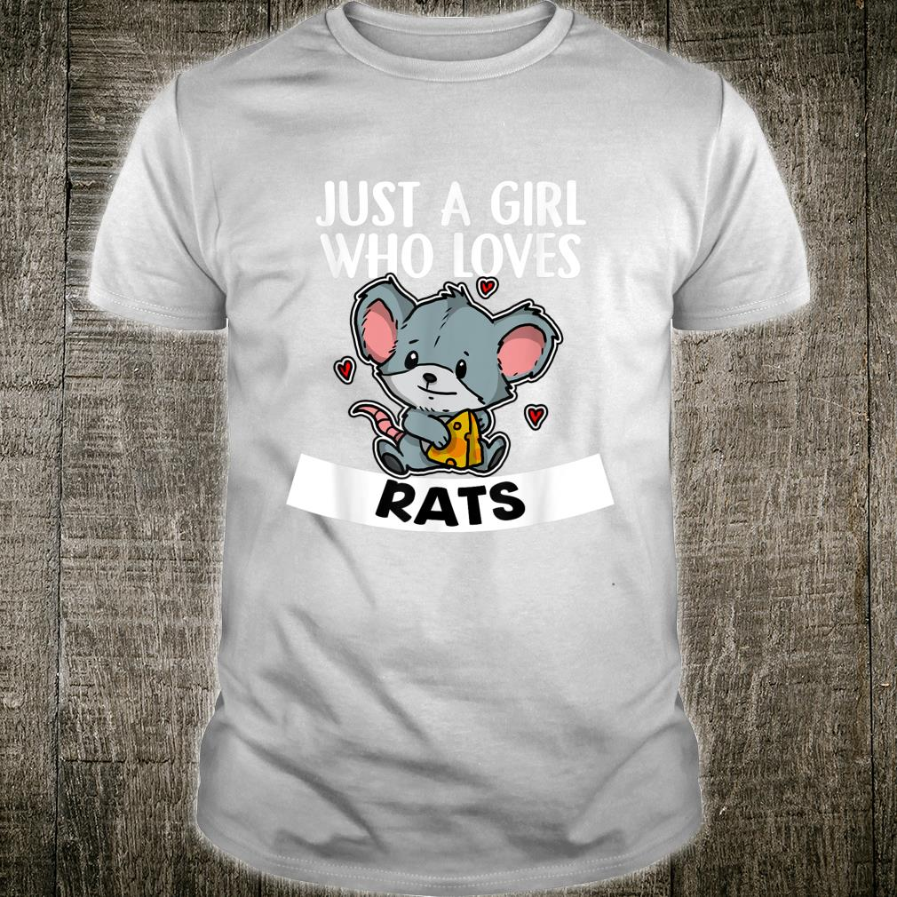 Just A Girl Who Loves Rats Cute Mouse Rat Costume Shirt