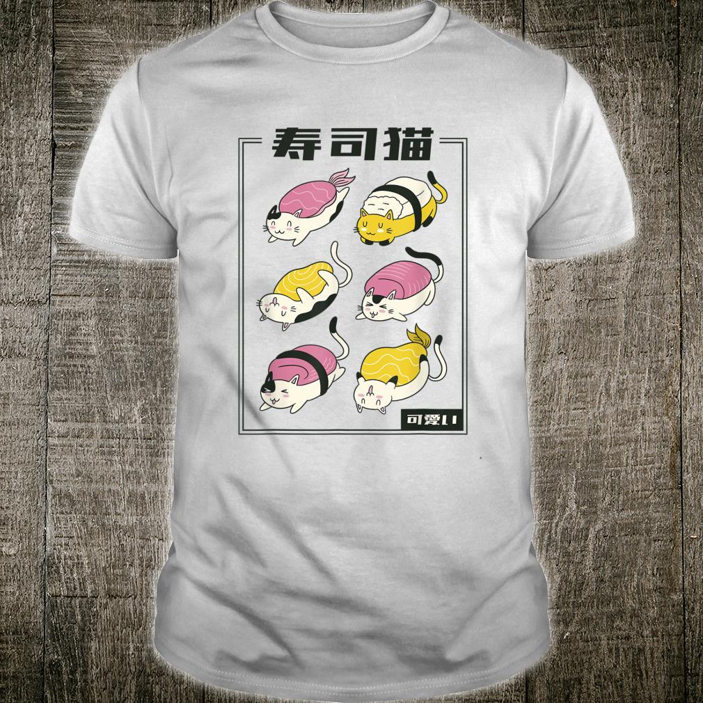 Kawaii Katze Sushi lustiges Katzenbesitzer Geschenk Idee Shirt